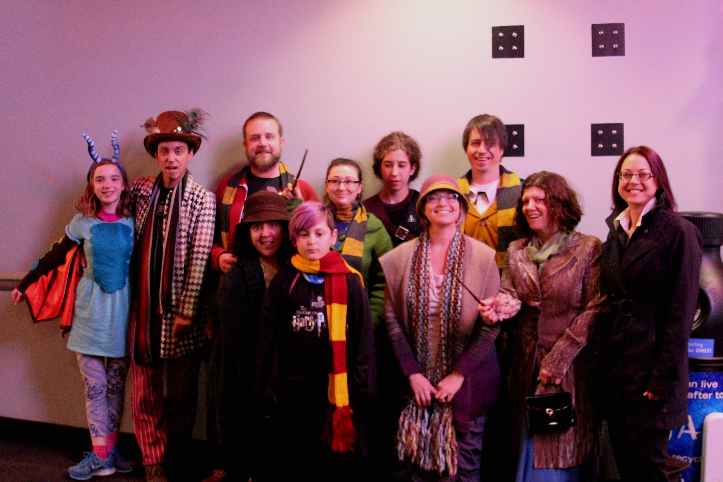"""Movies - Client Appreciation Party - 2018 Private Screening of Fantastic Beasts: The Crimes of Grindelwald. Costume Contest Participants!""""Everything I learned I learned from themovies."""" - Audrey Hepburn"""