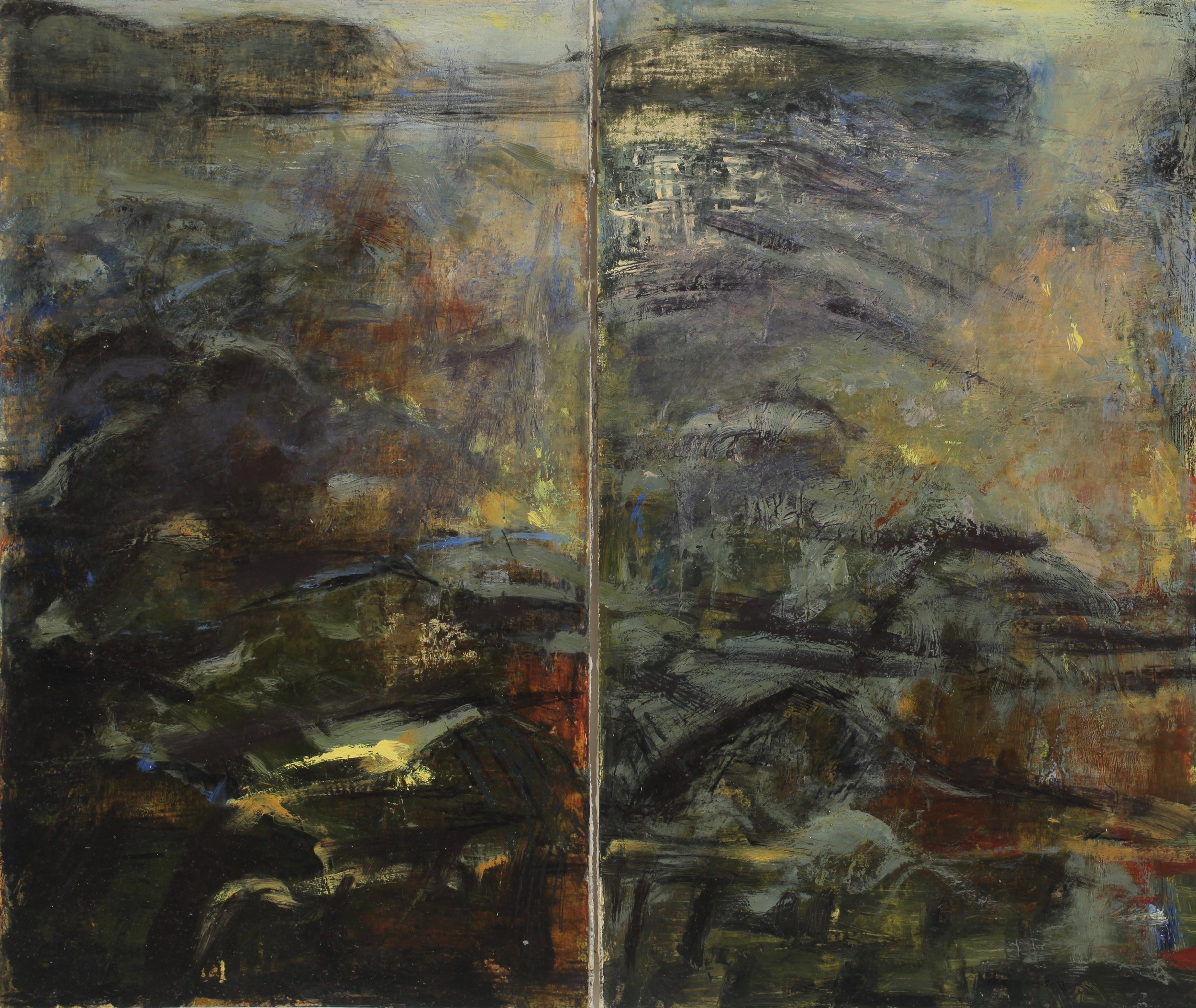 Study for vertical (diptych)