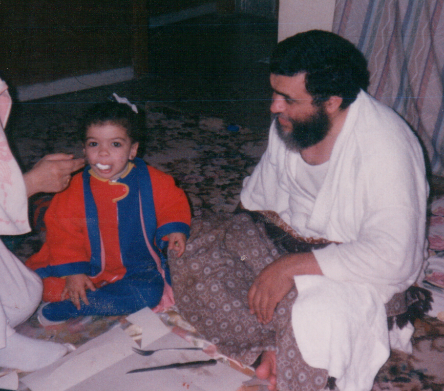 Ahmed and his daughter getting ready for Jihad. Cute.
