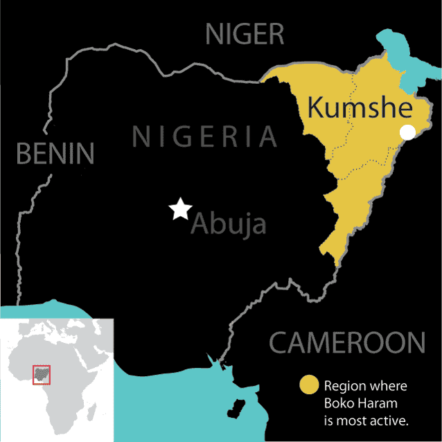Book Haram's territory constitutes a fraction of the Nigerian state.