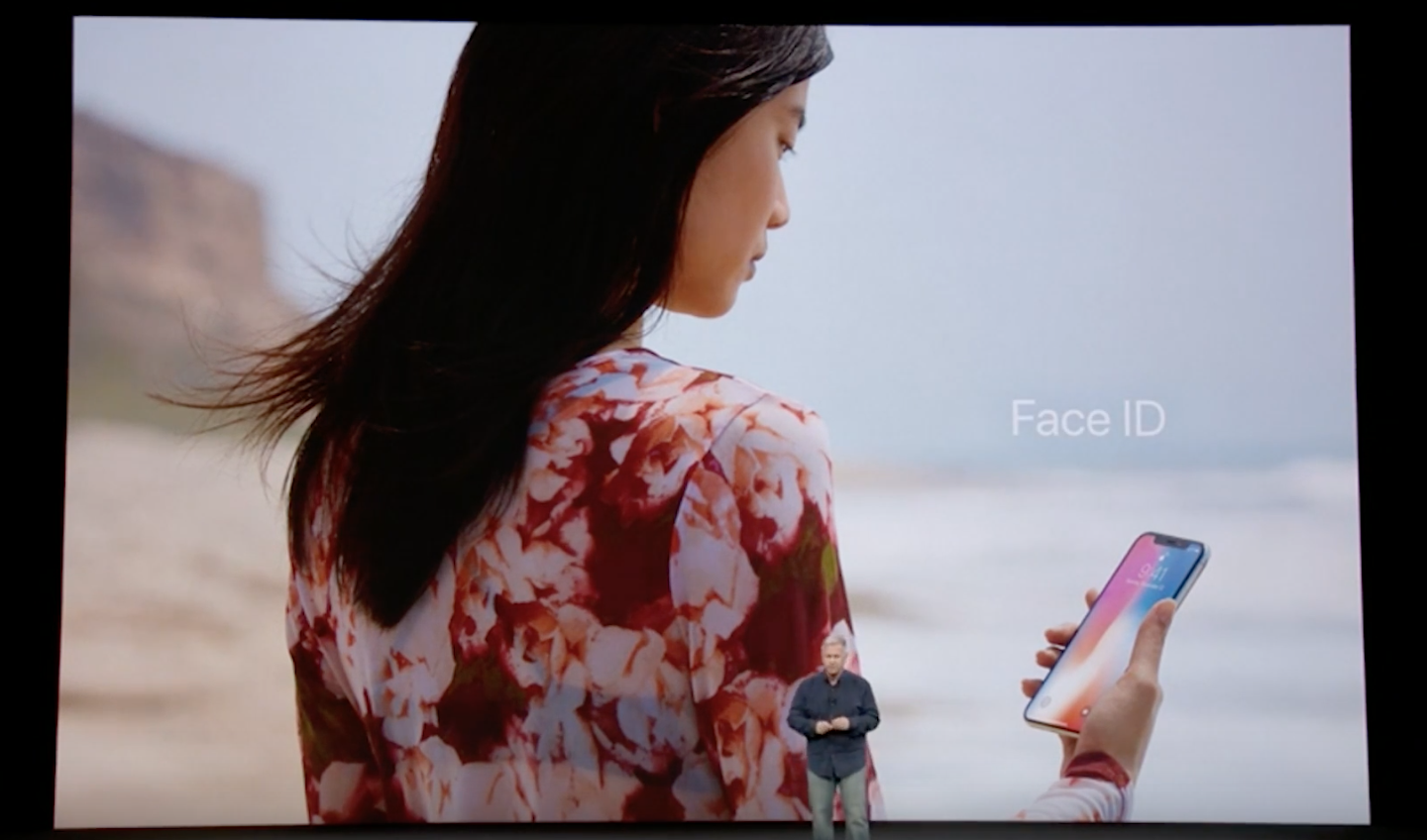 Apple's Phil Schiller unveils the company's new facial recognition technology