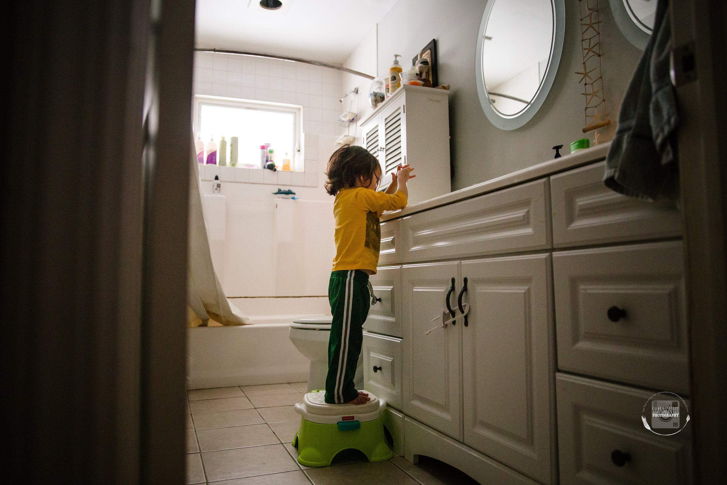 He loves being independent. Washing his hands after he brushed his teeth. Soon he won't need to stand on a step stool, that makes me a little sad.