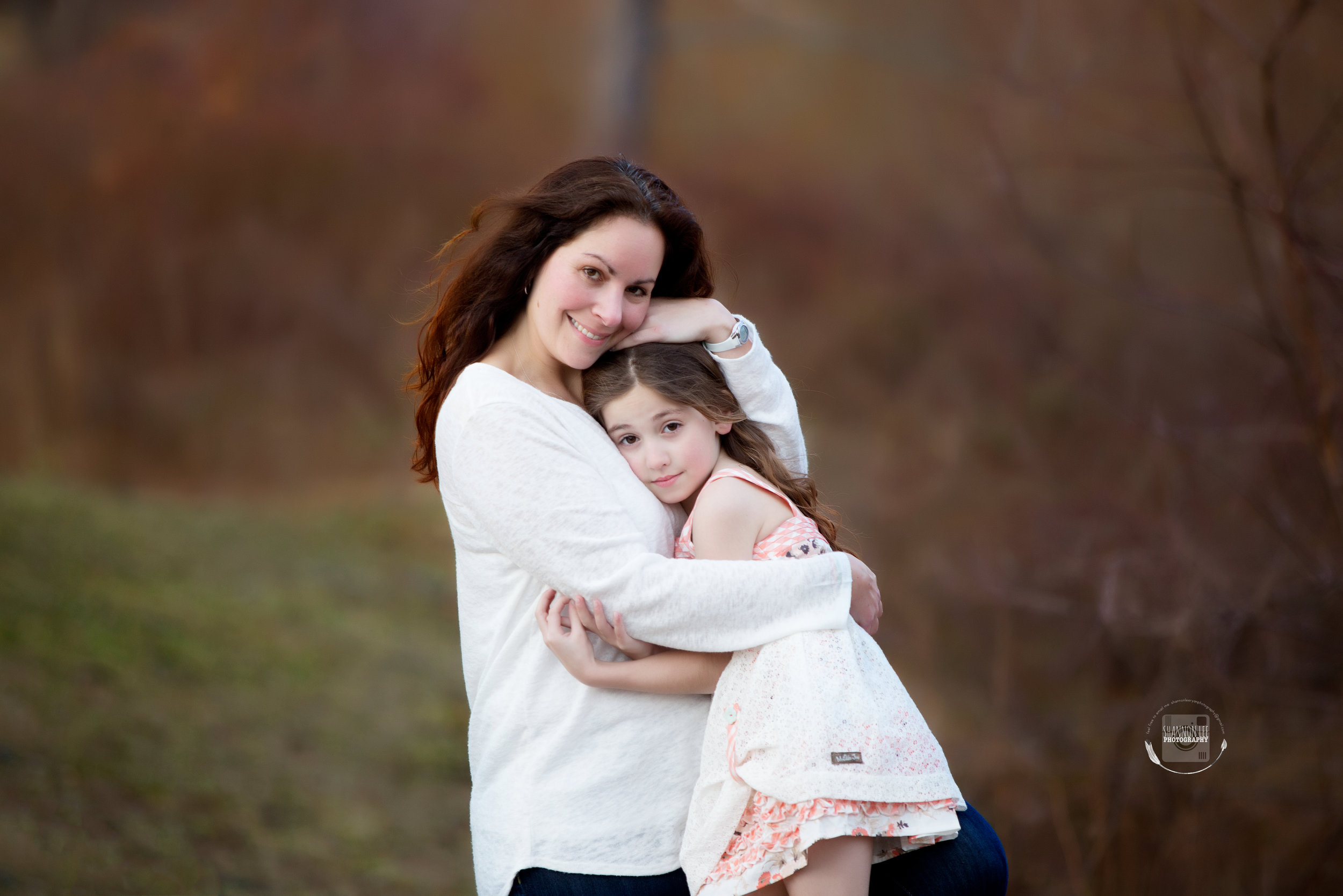 Mother and Daughter Hugging Mommy and Me session Long Island| Matilda Jane Dress