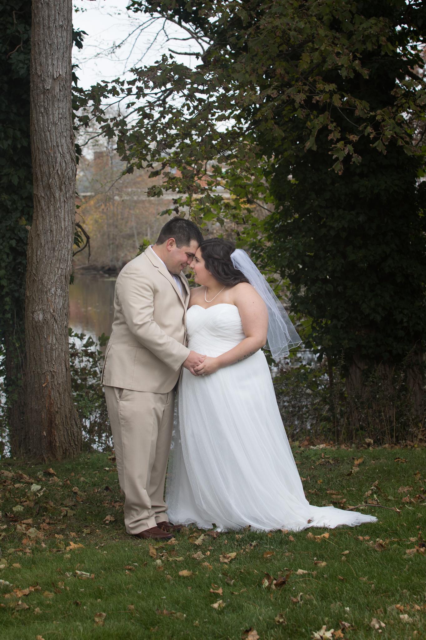 Bride and Groom Outdoor Wedding Long Island
