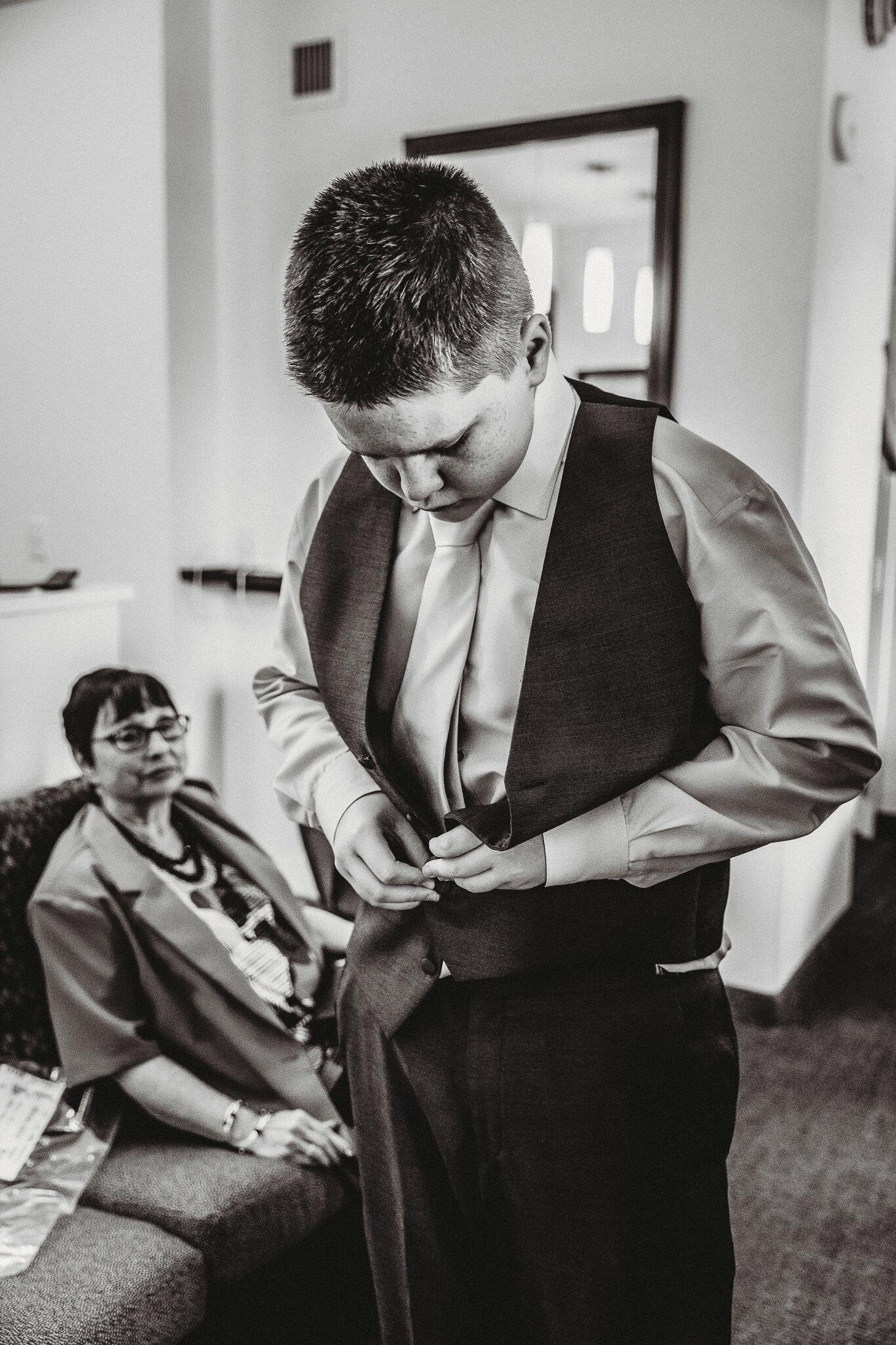 Shannon Lee Wedding Photography Long Island | Son Getting Ready