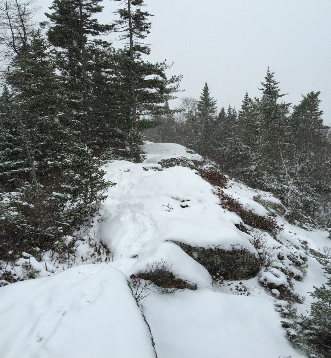 A snowy ride along a Halifax ridge in late January