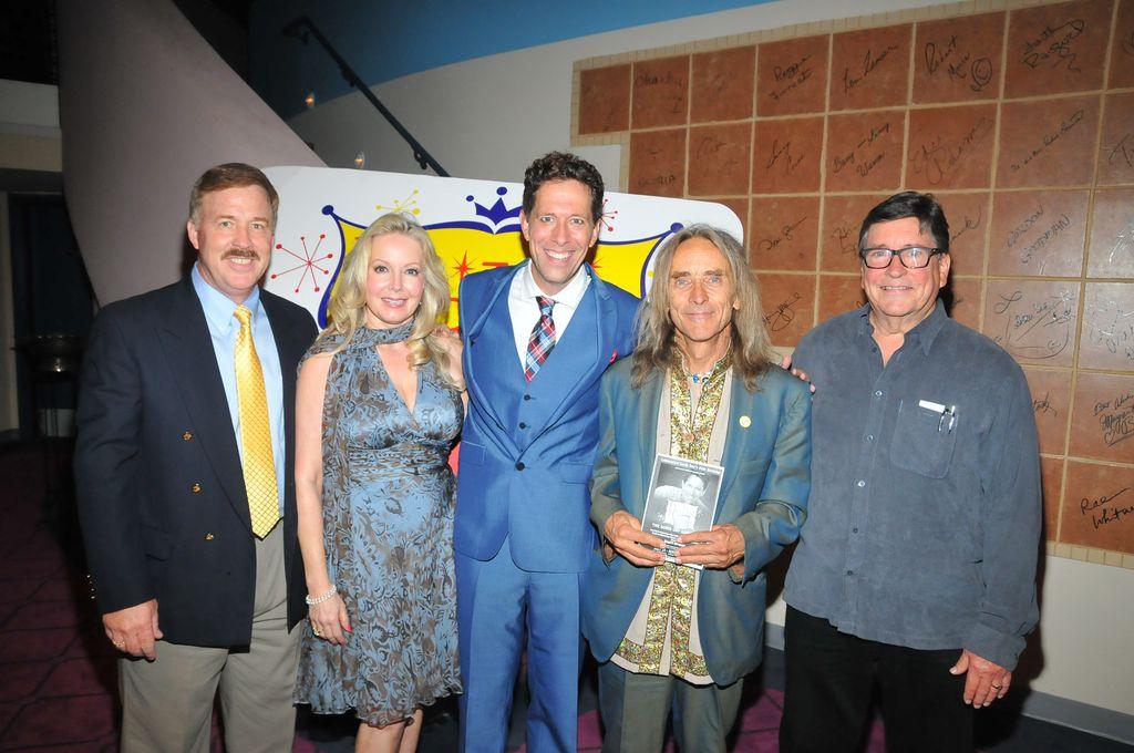 El Portal Theater DDAF benefit with Doris's movie kids: Brian Nash, Kym Karath, Ted Quinn, and Christopher Olsen.jpg