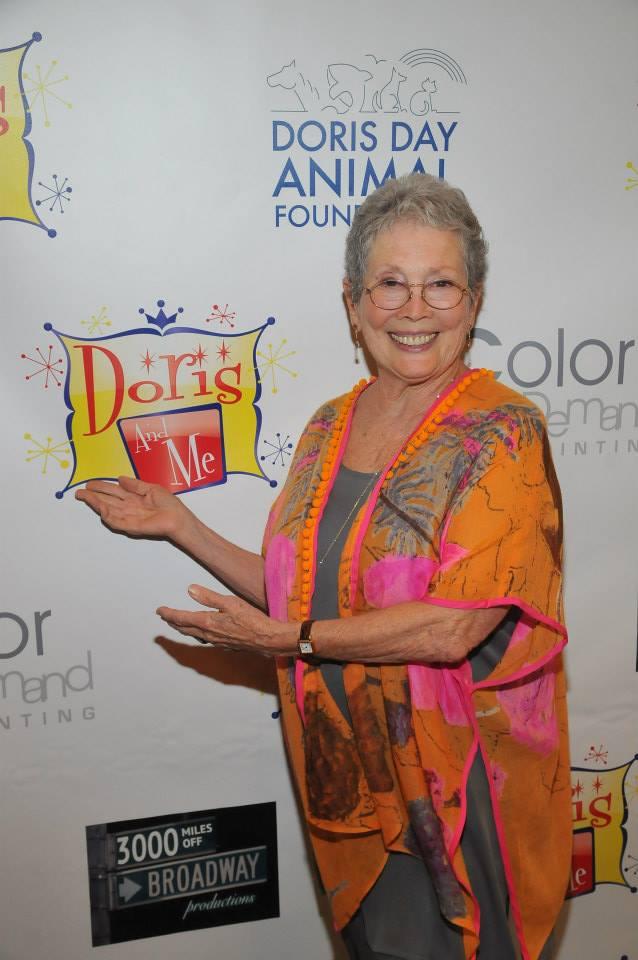 Jackie Joseph on step and repeat El Portal Theatre Benefit Doris and Me.jpg