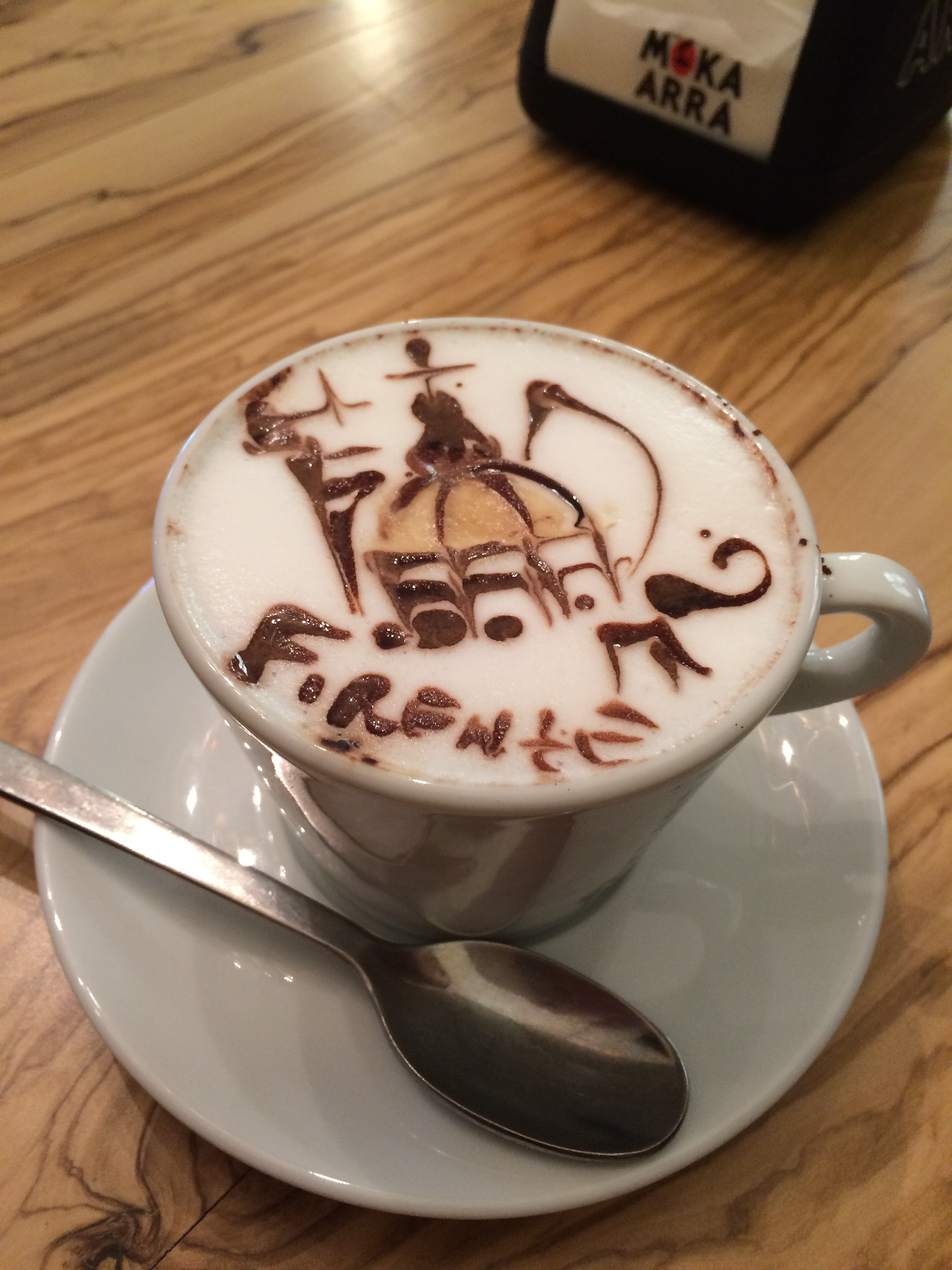 Un cappuccino from News Caffé in Florence
