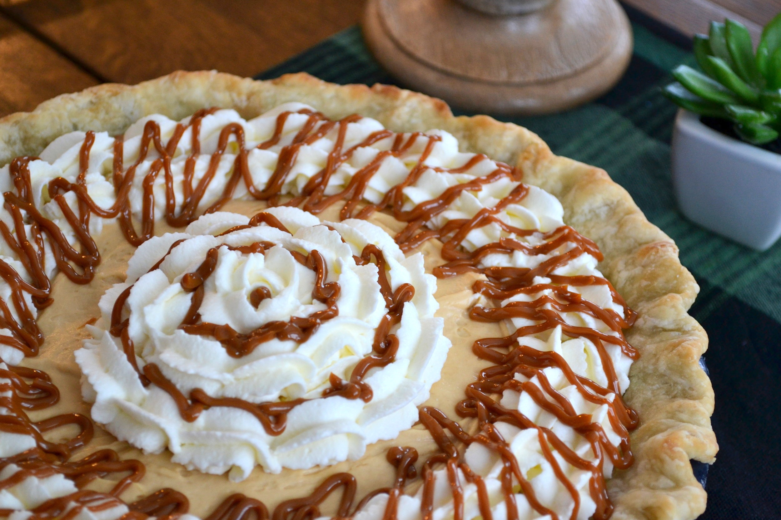 And yet, for as many times as I've made this pie, I've yet to get a photo of it sliced. Oh well, there's butter, caramel, and whipped cream, what more do you need to know?