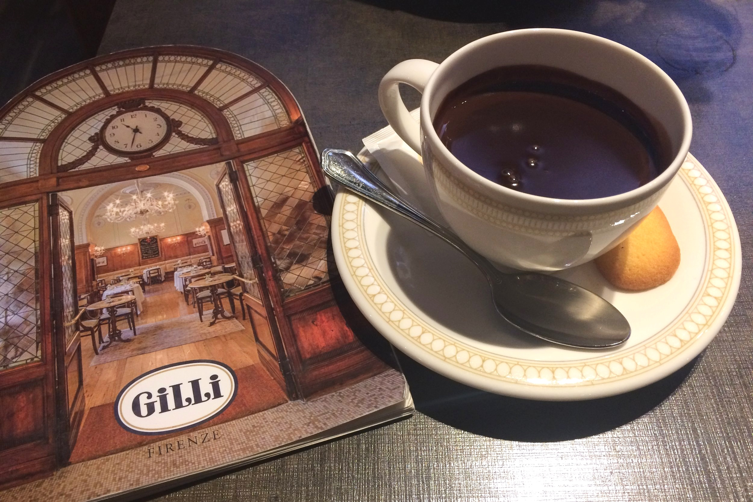 The famed hot chocolate at Caffè Gilli