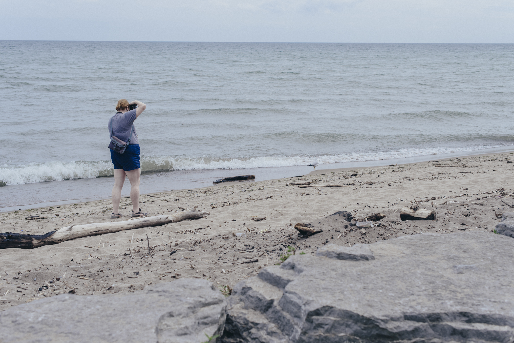 Photo of Yuli Scheidt from a location scout earlier this week for a collab we're doing.