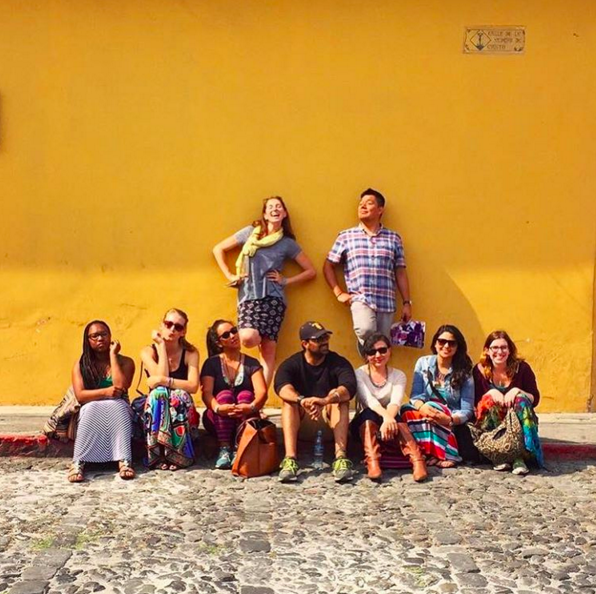 Students on the last day in Antigua Guatemala.