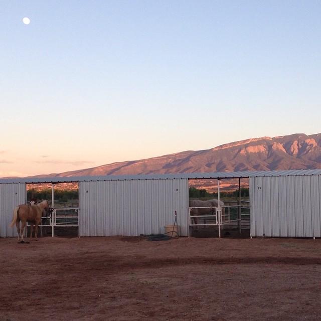 Stables at the Hyatt Regency Tamaya on the Santa Ana Reservation in Bernalillo, New Mexico