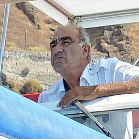 Boat captain in Santorini