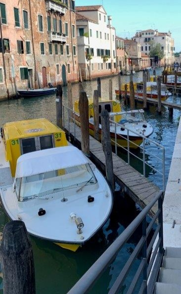 Ambulance boats ready for emergency calls in Venice