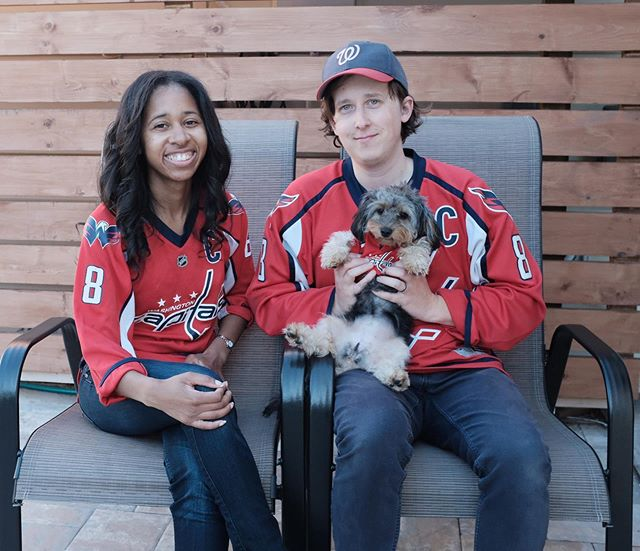 I guess we're THOSE dog parents. #letsgocaps #letsgonats #stayinthefight #washingtoncapitals