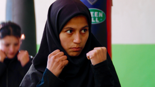 FIGHT LIKE A MAN - A promo for a work in progress about the <br>making of Afghan Girl Boxers