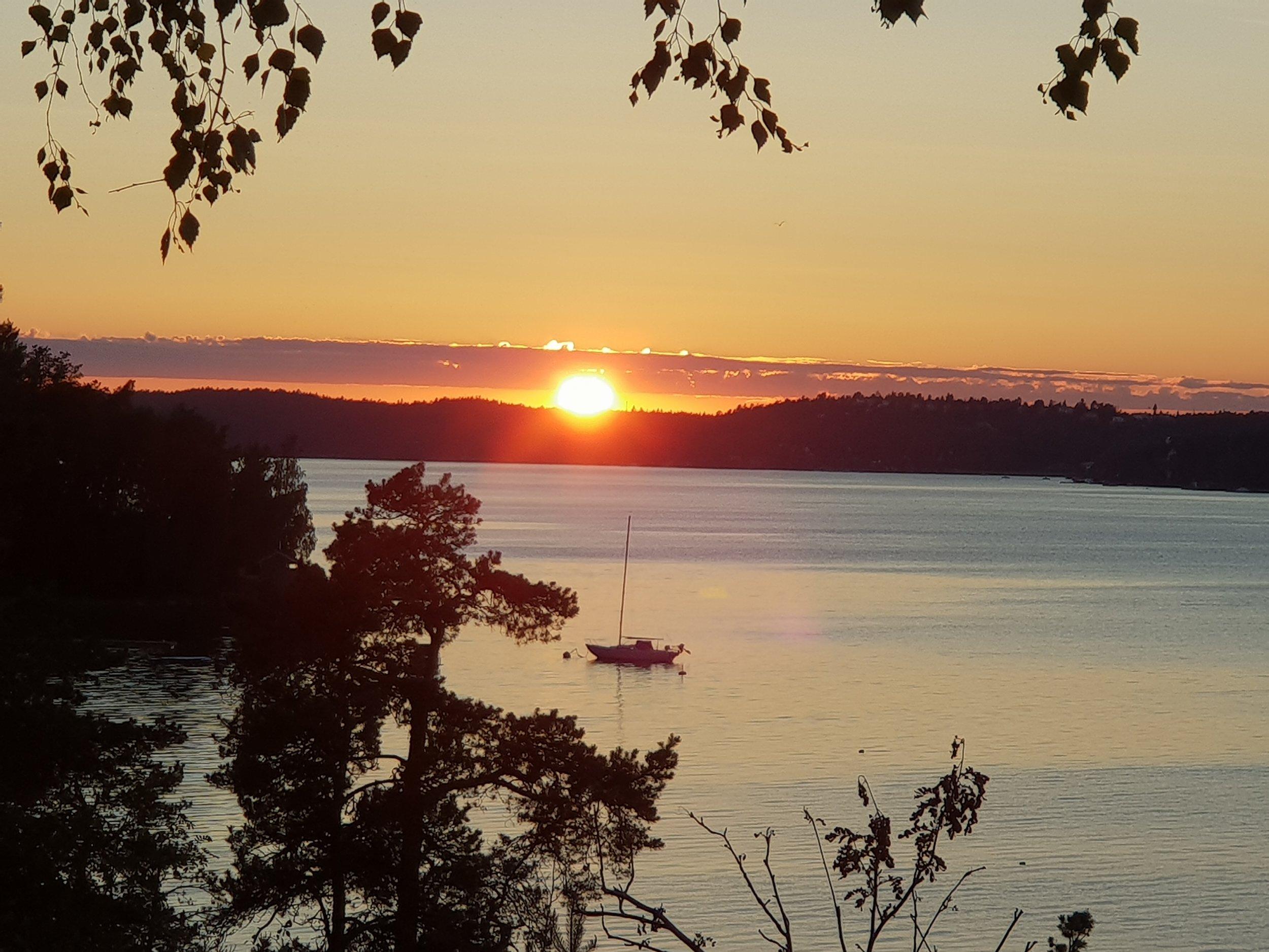 Solnedgång - en vackrare vy finns knappt