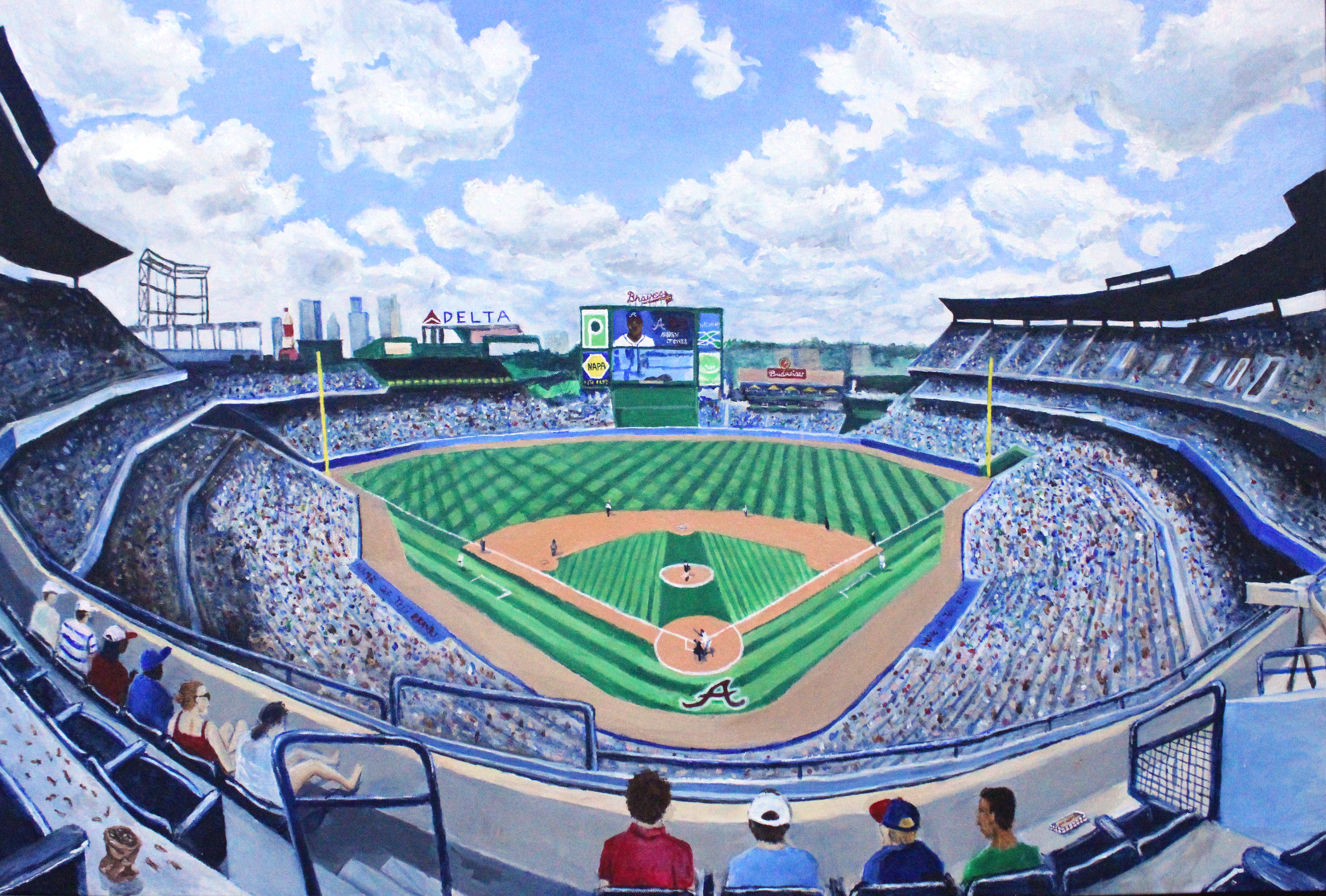 "Turner Field 24x36"" Acrylic"