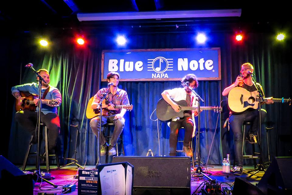 From left to right: Kenji Yoshia, Zachary Freitas, Brandon Kerrigan, and myself live at Blue Note on July 3rd. Photo by Kay Oneal.