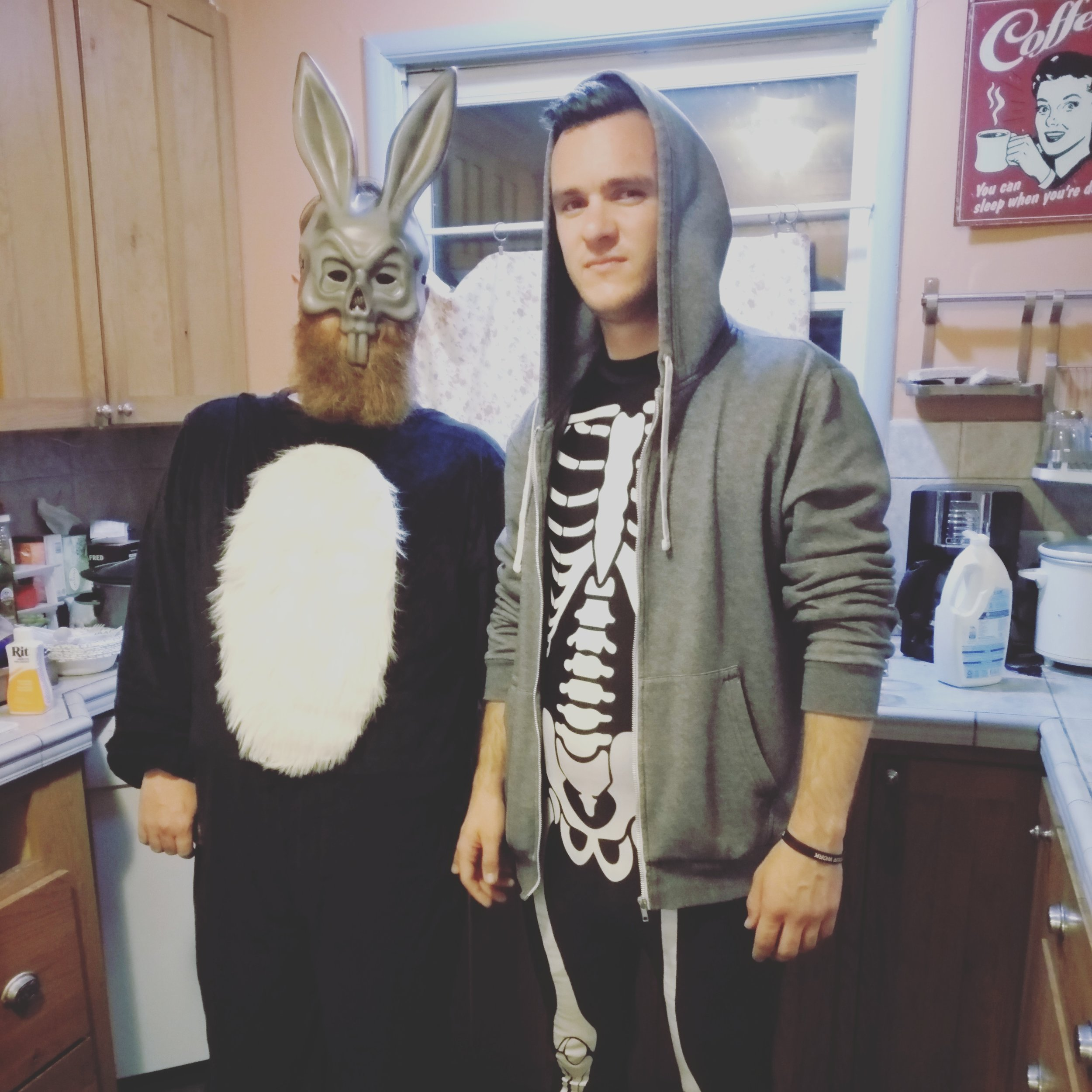 My brother Joel and I dressed up and performed as Donnie Darko and Frank the Bunny