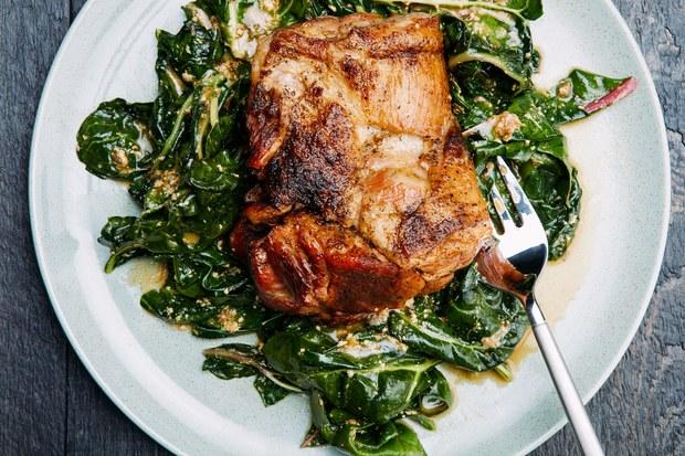 Milk Braised Pork with Lemon and Sage