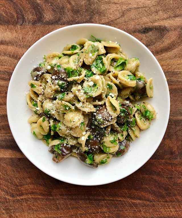 uhhh, anybody else tryna mushroom carbo-load tonite?? recipe link in the prof, if so.