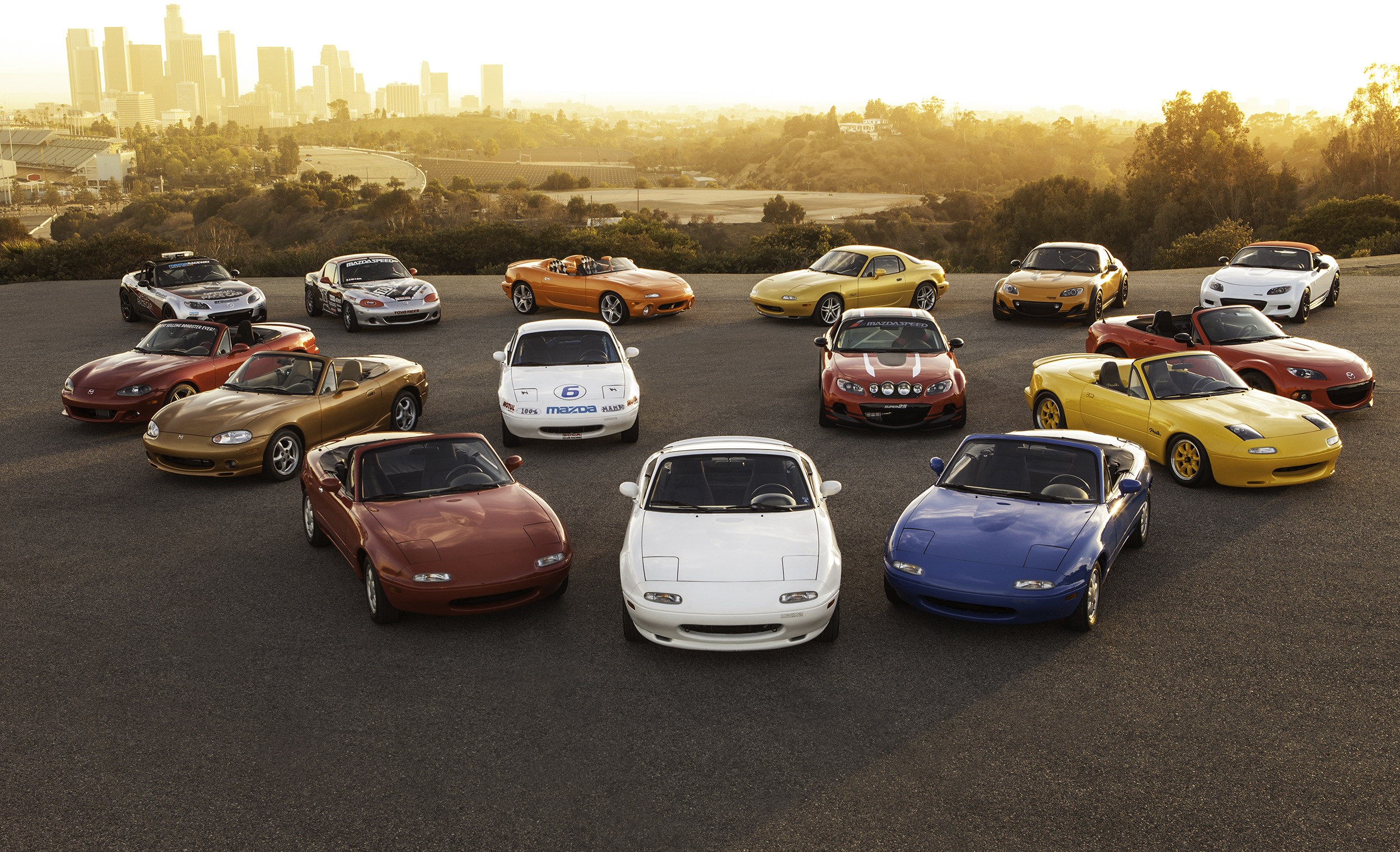 Mazda MX-5 Concept and Production Cars in Los Angeles