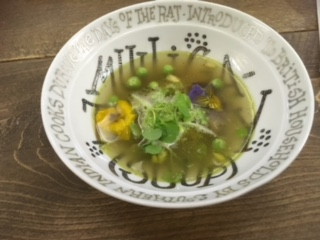 Daniel Hatton's take on pea & ham soup - delicious
