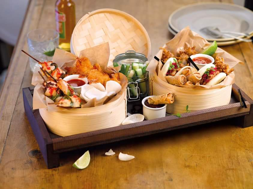 Asian platter from the new menu