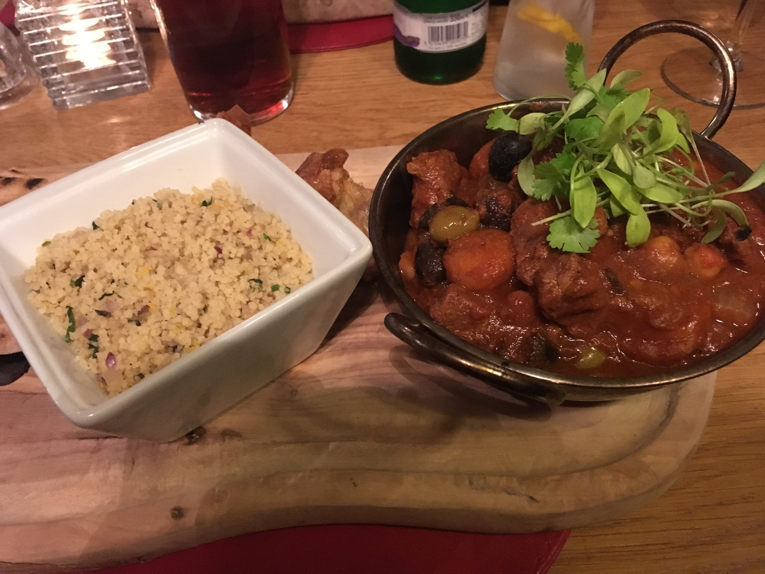 Moroccan lamb at The Dovecote