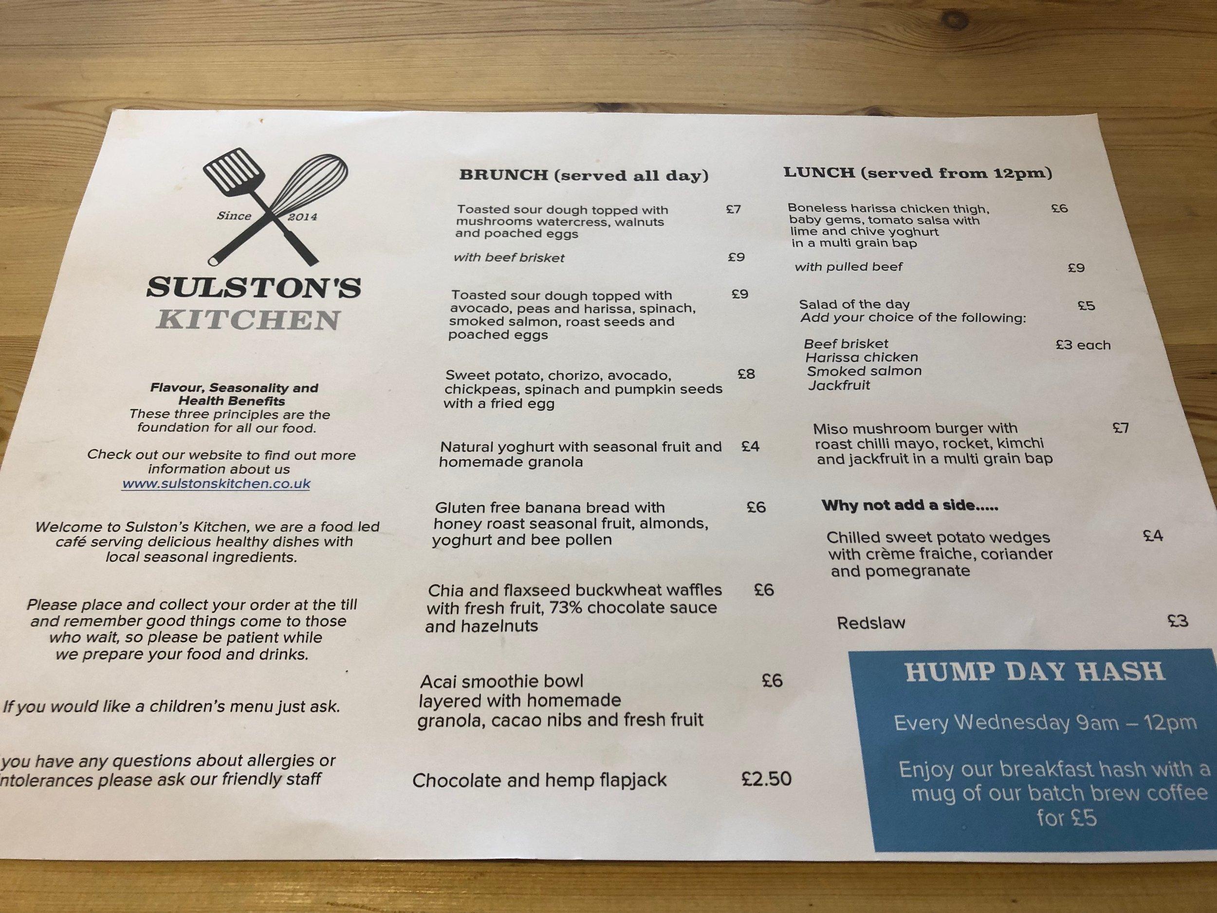Eat Around Tonbridge Sulston's Kitchen menu.JPG
