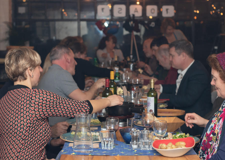 Family style dining at Jo Banks's Alive with Flavour supper clubs  Photo Credit Severien Vits Food Photography
