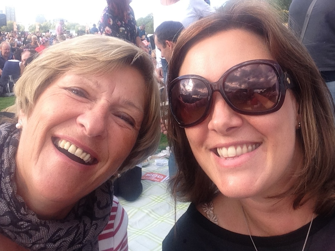My mum and I at Proms in the Park