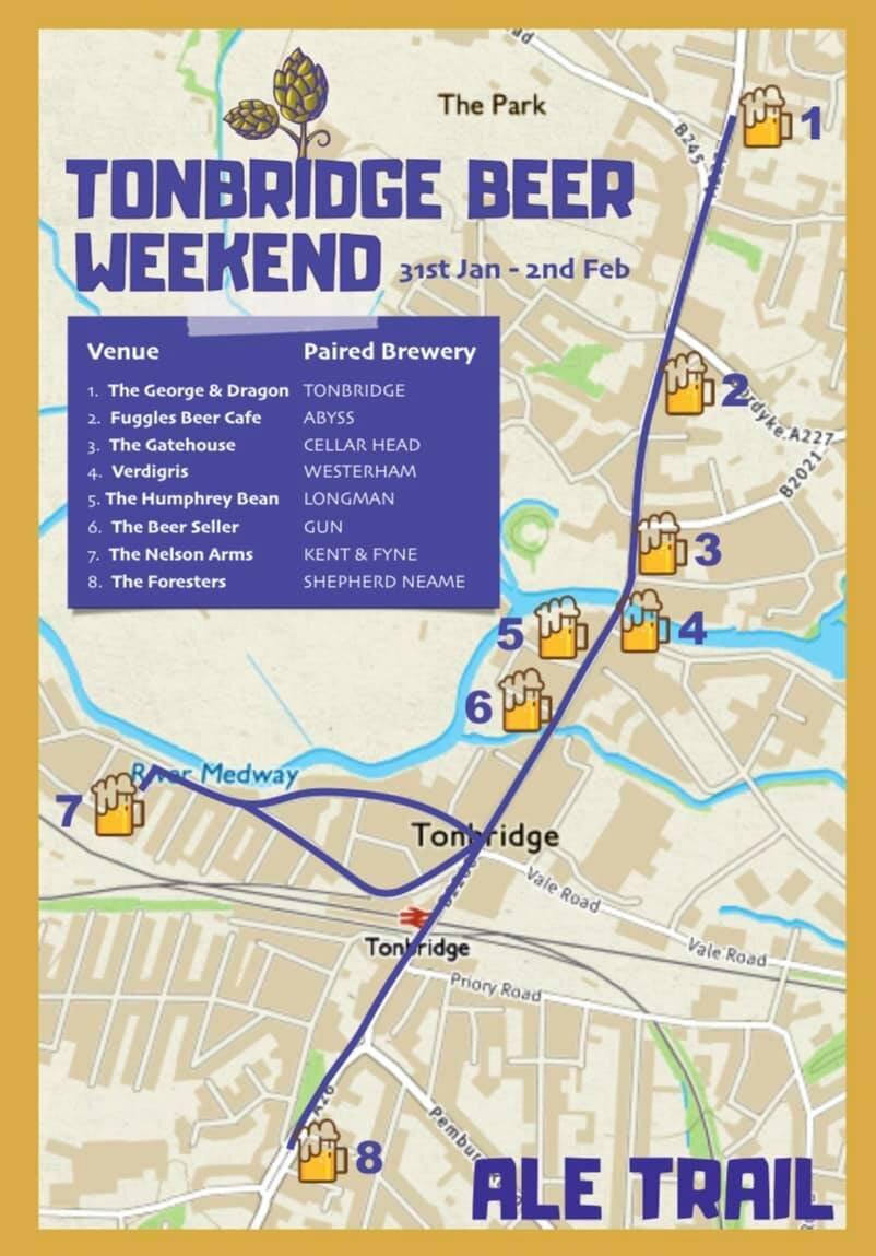 Tonbridge beer weekend map Eat Around Tonbridge.jpg