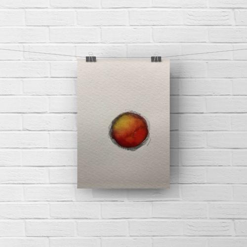 paper moon 1 - watercolor, graphite5 x 7