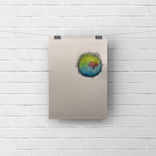 paper moon 2 - watercolor, graphite5 x 7SOLD