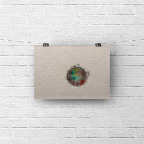 paper moon 3 - watercolor, graphite5 x 7sold