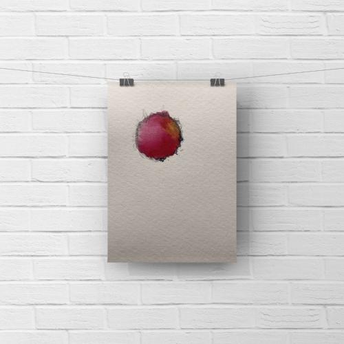 paper moon 4 - watercolor, graphite5 x 7