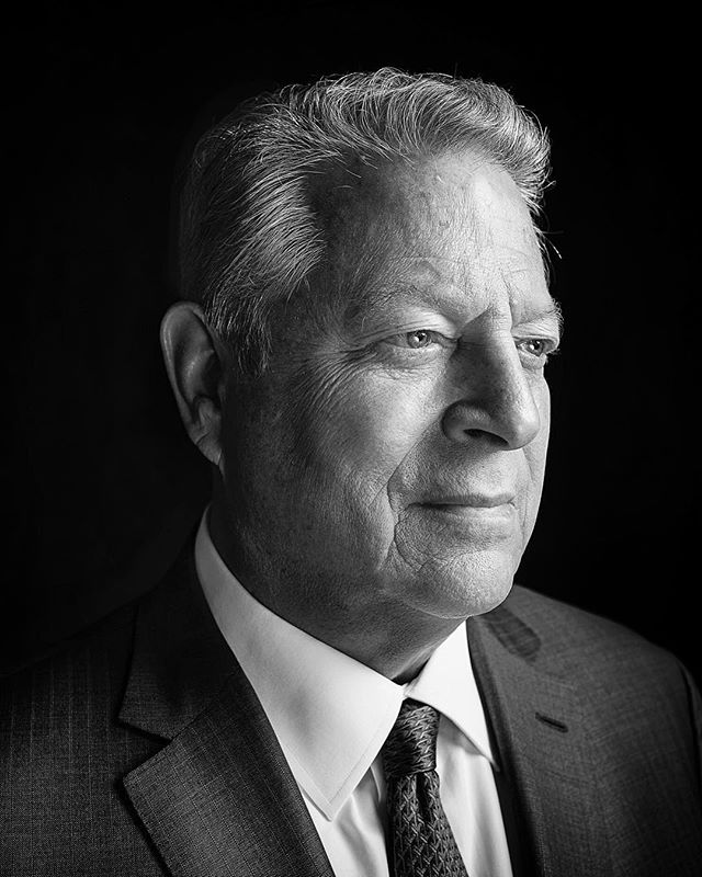 """@algore (that's right...he's on the grams now and you should give him a follow) photographed in DC earlier this week. Like many, I was introduced to Al Gore as the 45th Vice President of the United States. Long before that, Gore was an investigative reporter covering political corruption for the Tennessean as well as serving in Vietnam in the U.S. Army. His political career began in 1976 when he was elected to the U.S. House of Representatives, and was the first person to hold hearings on global warming in Congress. An author, subject of the two-time Academy Award Winning documentary, 'An Inconvenient Truth' (followed by the 2017 release of 'An Inconvenient Sequel: Truth to Power'), he was awarded the Nobel Peace Prize in 2007. But that's for the clipboard crowd. Gore also carries a burden. With his amplified voice comes amplified criticism and scrutiny. As a champion of clean/renewable energy amidst a world dominated by fossil fuel interests, this push back is to be expected. And while the 'climate debate' is all but a settled scientific fact the world over with 97-100% of climatologists in agreement, the politicization of the issue within America has perpetuated a divisiveness that exacts a toll. At 70 yrs old however, he shows no signs of slowing down and humorously quips, """"70 is the new 69."""" His non-profit Climate Reality Project has provided free seminars to over 14,000 individuals globally, offering education on the science behind global warming and how to speak to it within their communities. I had about 30 minutes with Gore in which the conversation bounced from his service, to his Instagram account, to religion and faith and the fourth evil of society, 'Ecological Devastation'. What I was emphatically reminded of, and what I believe to be the most important aspect of all of us REGARDLESS OF OUR POLITICAL IDENTITIES, is our shared humanity and need to protect our shared home. Beyond the years of work, achievement and even the conversation, there was the earn"""