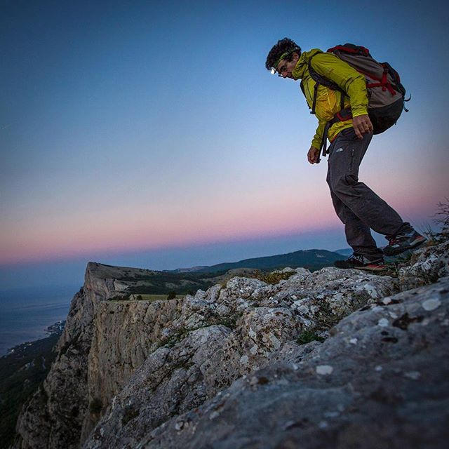 @cedarwright treads lightly above the Black Sea on a climbing trip to Crimea several years ago, before the annexation.