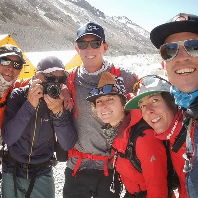 If you're gonna climb #Everest in a week, this is the crew to do it with! We're moving up, 6400m (21,000 ft) tonight, with a pretty darn exciting summit plan. No really, it's rad! Stay tuned. #Everest2018 #RapidAscent #everestnofilter