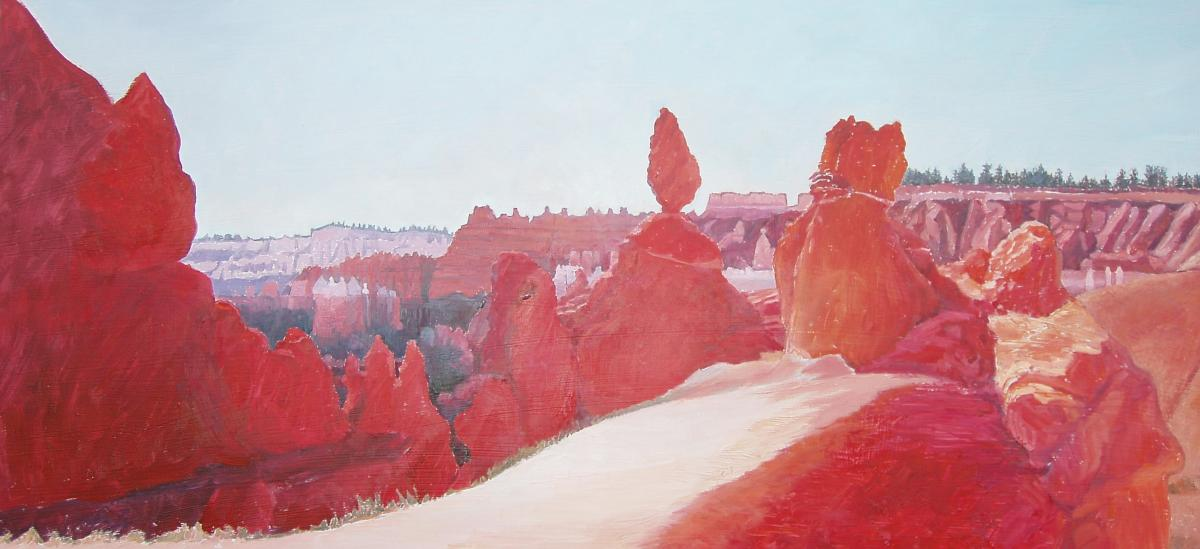 Bryce Canyon HooDoos , oil on Board, 32 x 19 inches