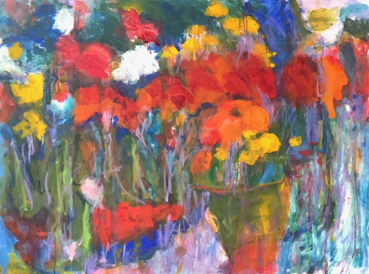 Kristine Flannery_ Jose's Flowers - Oil on Canvas 36 x 48.jpg