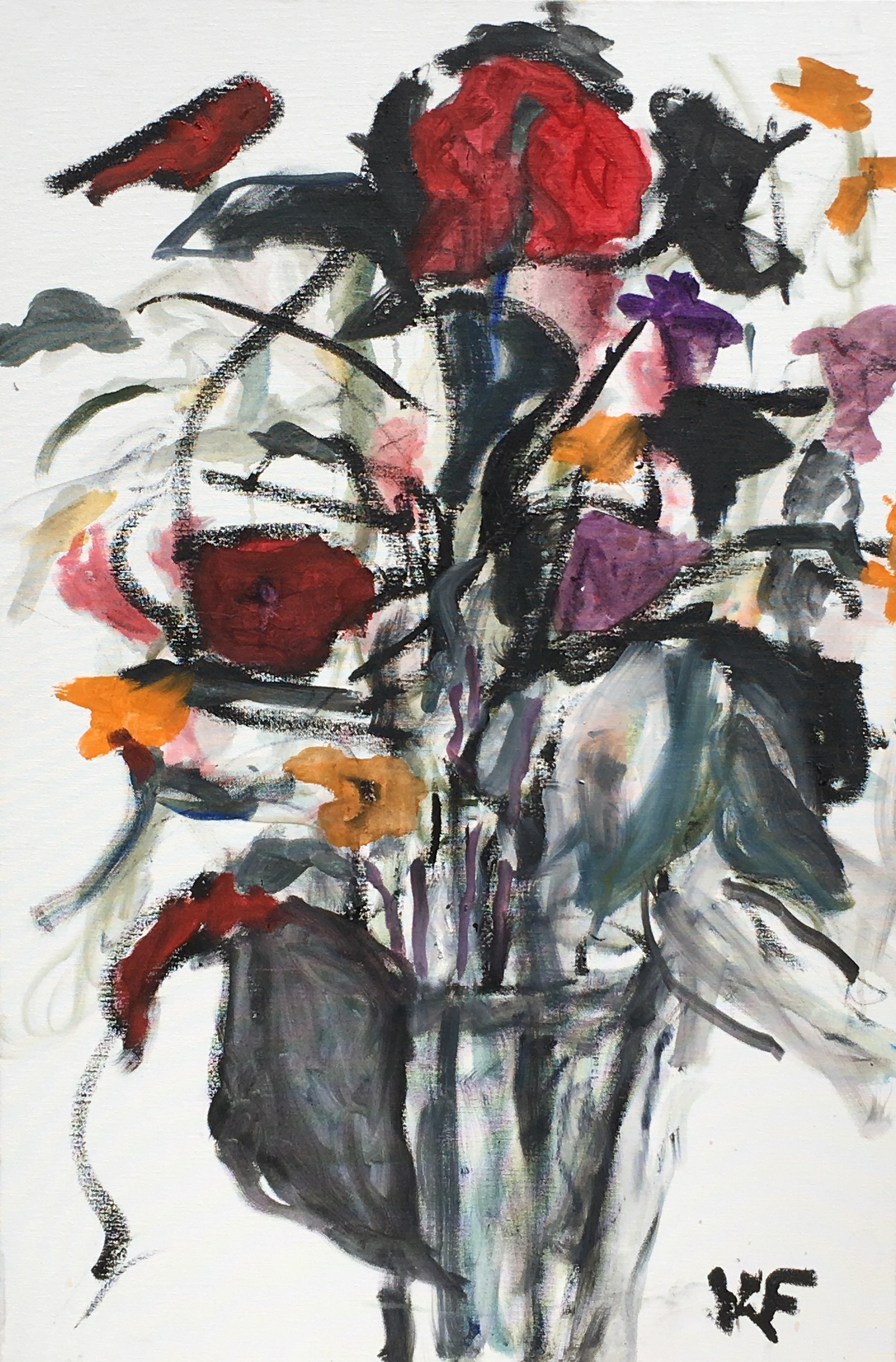 Kristine Flannery_ Still Life with Red Flowers - Original 24 x 36 - Oil on Canvas.jpg