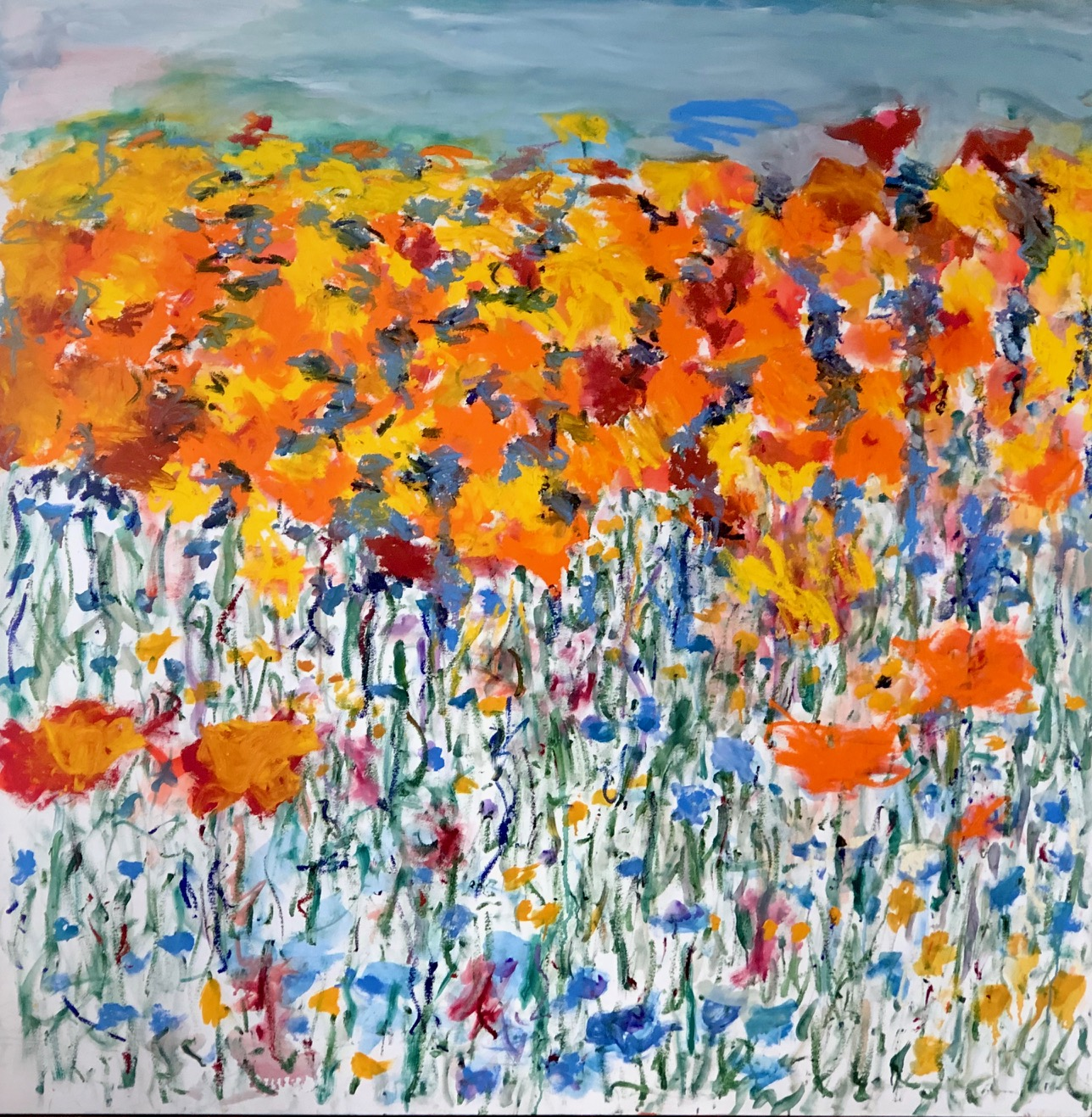 Kristine Flannery_ Wildflowers_Rebirth After Fire - Oil on Hard Board 60 x 60.jpg