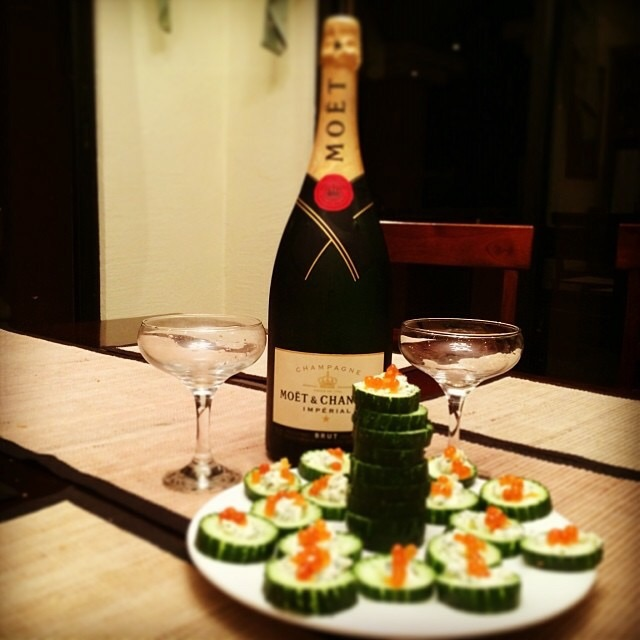 Caviar... Don't be scared. It's absolutely delicious if you find the really good quality stuff. It pairs perfect with champagne of course!