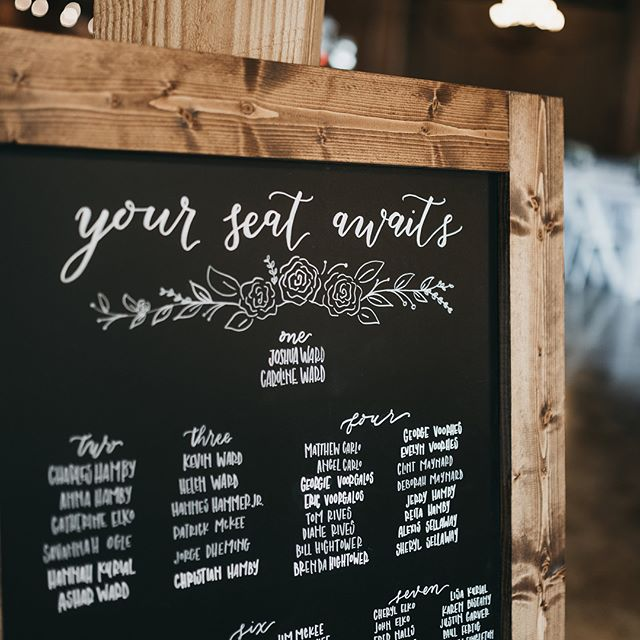 Definitely had my patience tested on this one.. but pretty happy with the turnout 😍 #weddingsignage #seatingchart #weddingchalkboard