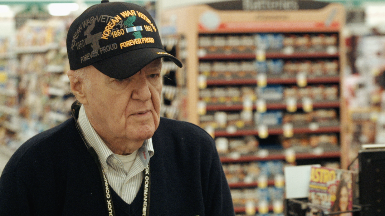 """Jesse Howard Fry III.82 years old.  Drafted and served in Korea from 1953-1955   I remember the day that I filmed Mr. Fry. By this time I was about a month into filming Welcome to America and I was collecting poorly hung flags*, which sadly there are more than you'd think once you start looking for them. When I was with him, he looked up at the flag as he was walking out of the grocery store. And said,""""I wish they'd fix that"""".        """"So when you came back from Korea, how did they treat you?""""   """"They spit at me. They called me'war-monger','child killer'. I didn't have one friendly comment when I was in uniform. They were just anti-war at that point and the took it out on us. But I didn't have any choice, I was drafted!""""      *The reason that I was collecting shots of poorly hung flags is because it was so symbolic of the theme of the song. If you don't take care of something, it'll fall apart. Everything requires maintenance. It's not unpatriotic but the opposite, showing someone """"you've missed a spot"""" doesn't mean that you don't care, it means that you do care.   """"The opposite of love is not hate, it's indifference."""" - Elie Wiesel"""